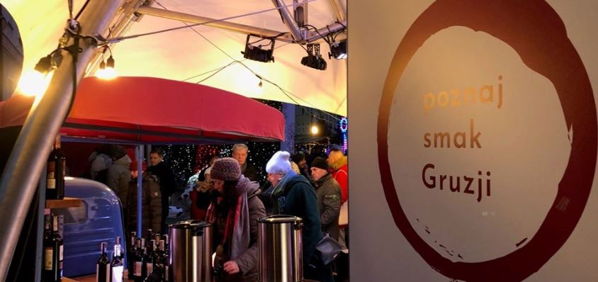 Georgian wine Presented at Polish Christmas fairs