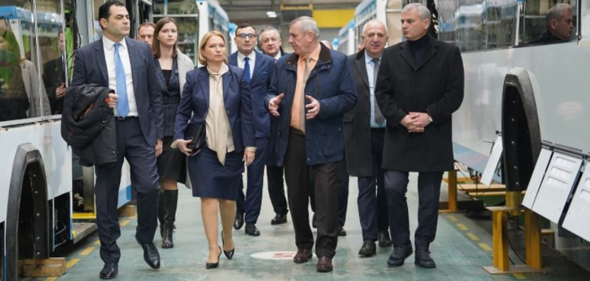 Economy Minister Visits Electric Transport Manufacturing Company in Belarus